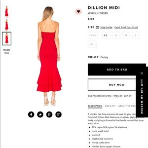 08c216950c Lovers + Friends Dresses - LOVERS + FRIENDS Dillion midi dress